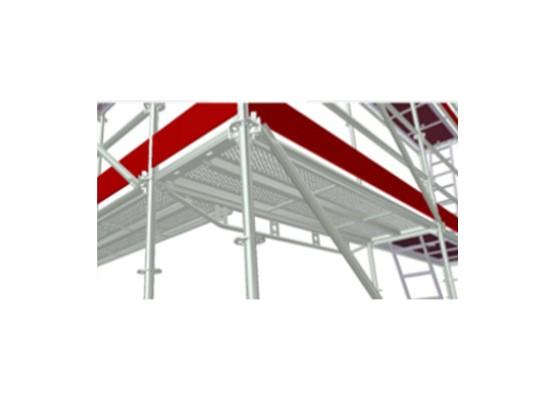 100m² pomost stalowy 3,07 m - rusztowanie modułowe
