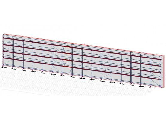 516m² pomost stalowy 3,07 m - rusztowanie modułowe