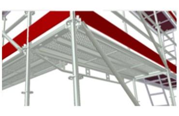 105m² pomost stalowy 3,07m  - rusztowanie modułowe